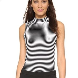 Theory Wendel Everyday Stripe Sleeveless Top, S